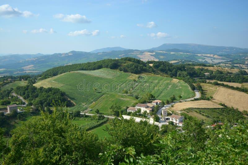 Paisaje del área de Marche en Italia foto de archivo libre de regalías