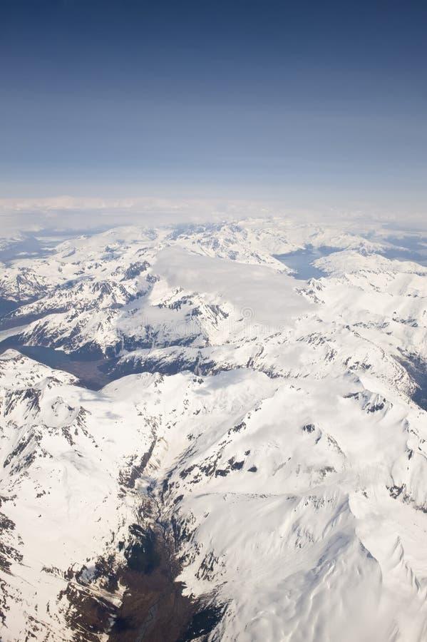 Paisaje del Alaskan Nevado fotos de archivo