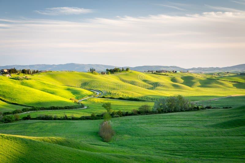 Paisaje del balanceo en Toscana fotos de archivo