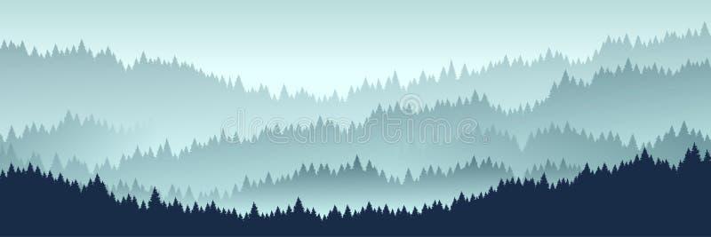 Paisaje del bosque Ilustraci?n del vector ilustración del vector