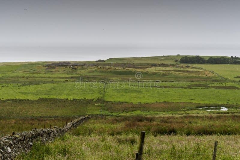 Paisaje del campo de Thurso imagen de archivo libre de regalías