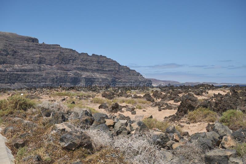 Paisaje del campo en Lanzarote imagen de archivo
