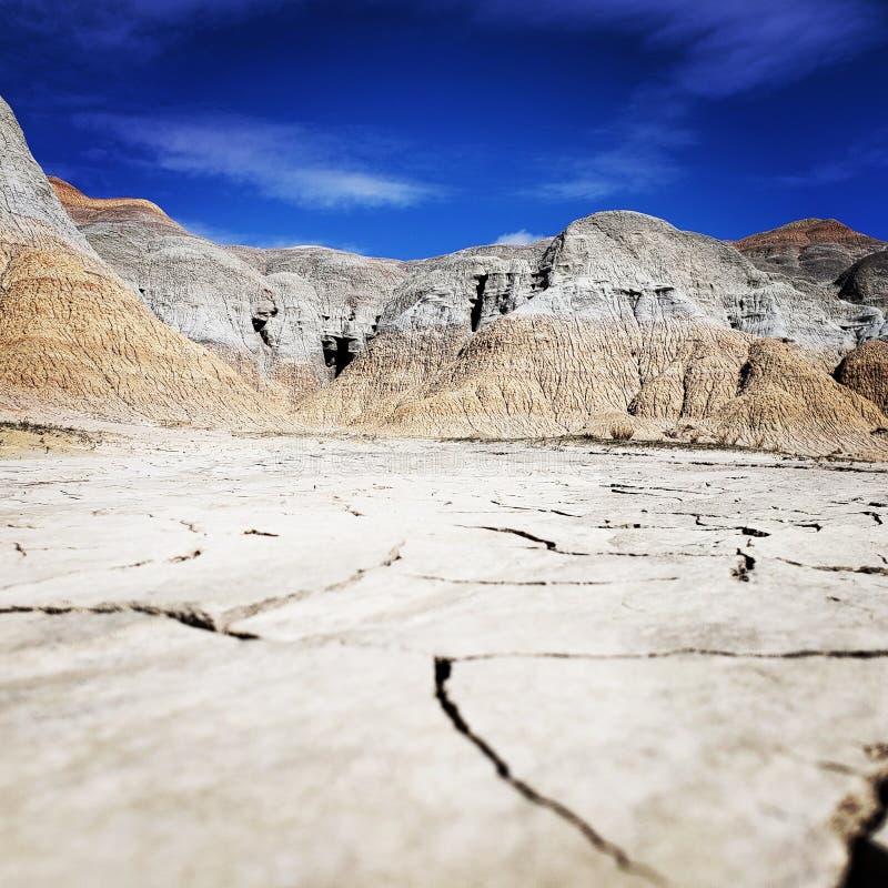 Paisaje del desierto cerca de vernal, Utah fotografía de archivo