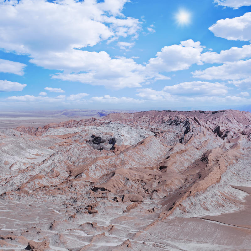 Paisaje del desierto de Atacama fotografía de archivo libre de regalías