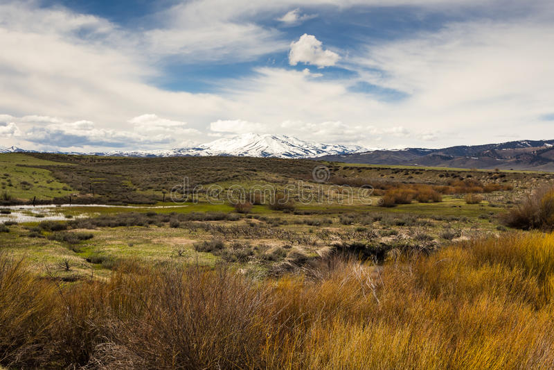 Paisaje del desierto de las altas montañas de Idaho imagen de archivo