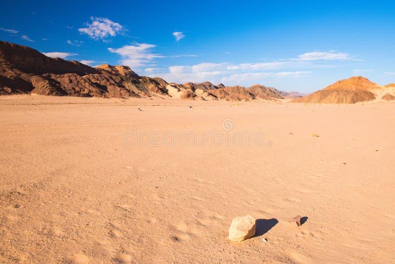 Paisaje del desierto de Sinaí fotos de archivo libres de regalías