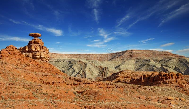 Paisaje del desierto en el sombrero mexicano, Utah imagen de archivo libre de regalías