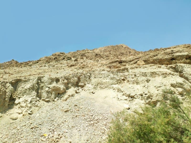 Paisaje del desierto del Néguev con las colinas y las montañas fotos de archivo