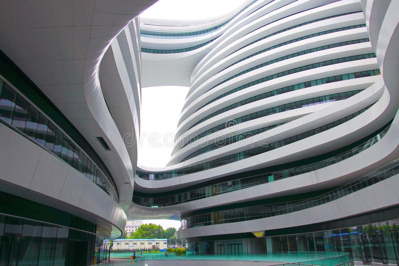 Paisaje del edificio de SoHo de la galaxia de Pekín imagen de archivo