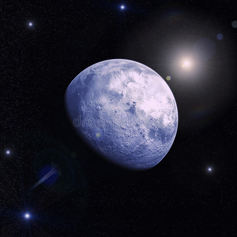 Paisaje del espacio con un planeta y las estrellas libre illustration
