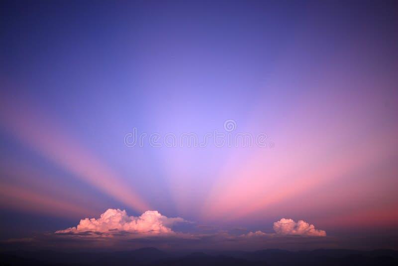 Paisaje del fondo del cielo imagenes de archivo