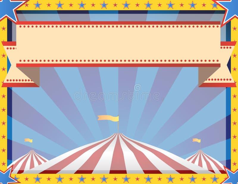 Paisaje del fondo del circo ilustración del vector