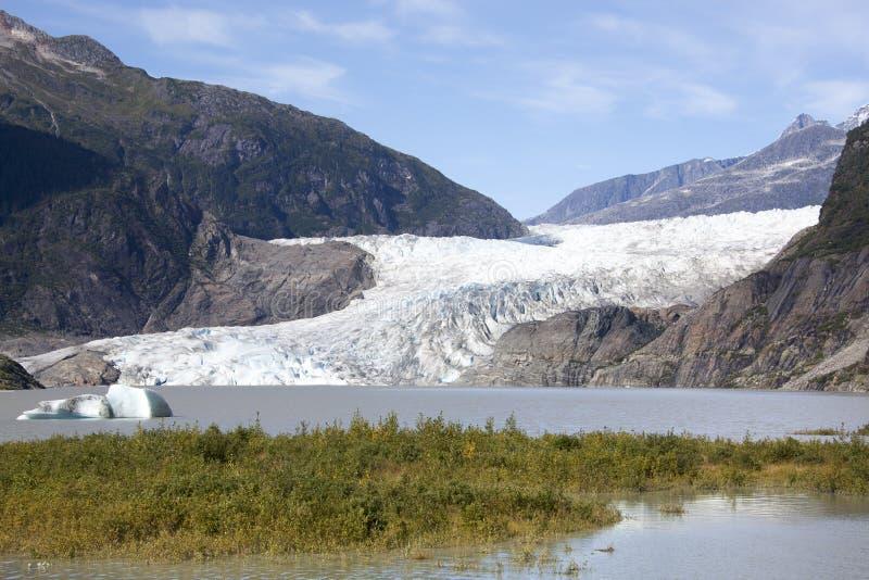 Paisaje del glaciar de Mendenhall fotografía de archivo libre de regalías