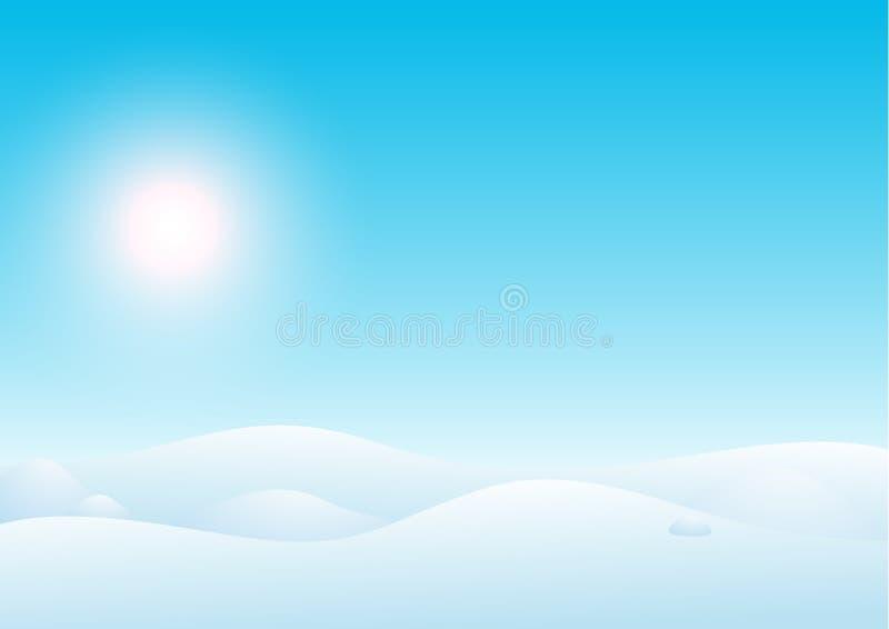 Paisaje del invierno libre illustration
