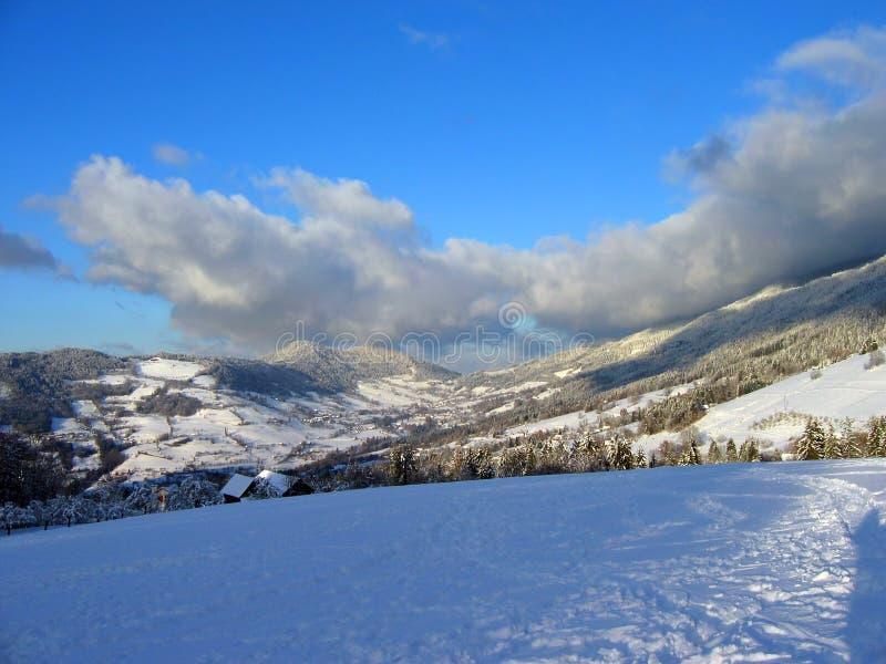 Paisaje del invierno imágenes de archivo libres de regalías