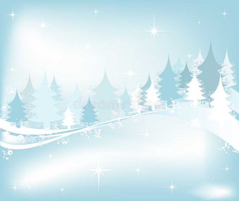 Paisaje del invierno ilustración del vector
