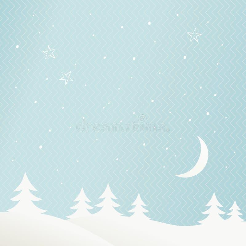 Download Paisaje del invierno ilustración del vector. Ilustración de celebración - 41909534