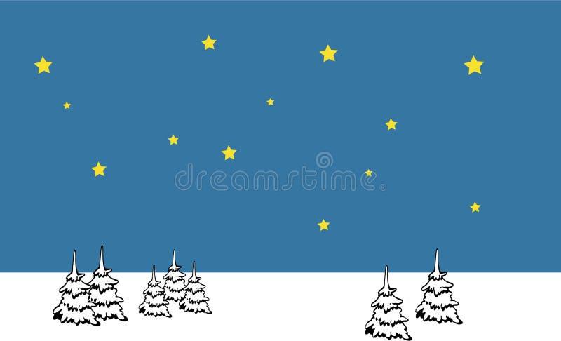 Download Paisaje del invierno ilustración del vector. Ilustración de noche - 7279269
