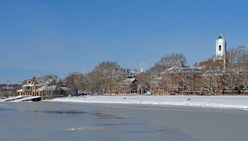 Paisaje del invierno de Cambridge fotografía de archivo