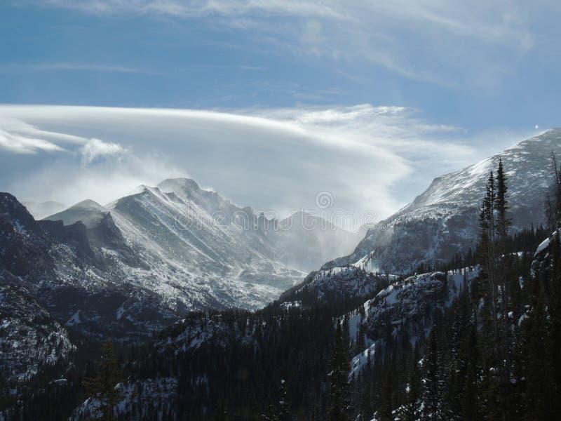 Paisaje del invierno de Colorado Rocky Mountain fotos de archivo