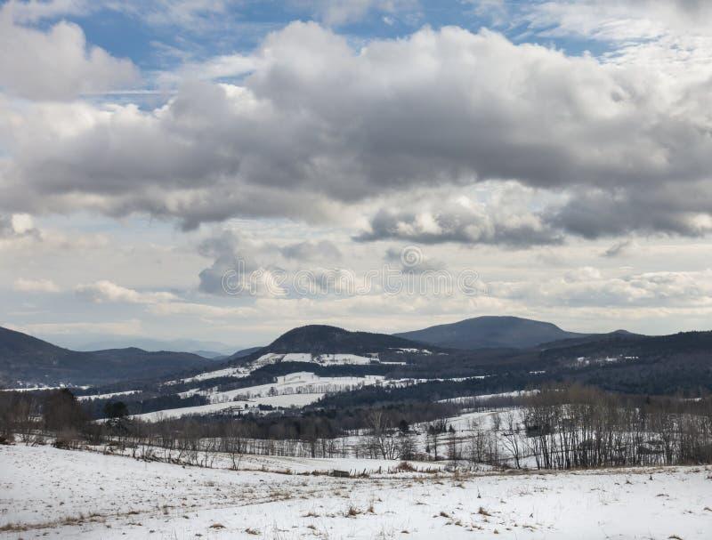 Paisaje del invierno de Peacham Vermont fotos de archivo libres de regalías