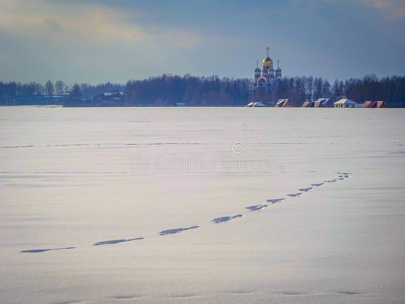 Paisaje del invierno de Rusia central imagenes de archivo