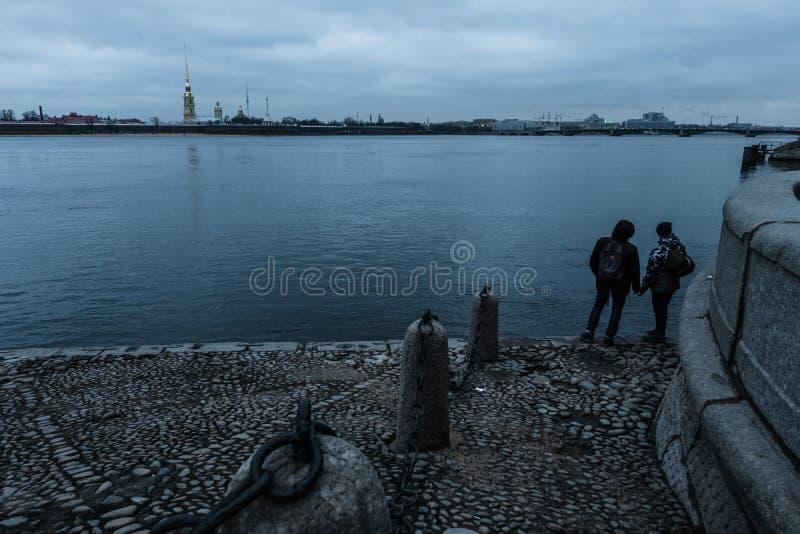 Paisaje del invierno de Sankt-Peterburg foto de archivo libre de regalías