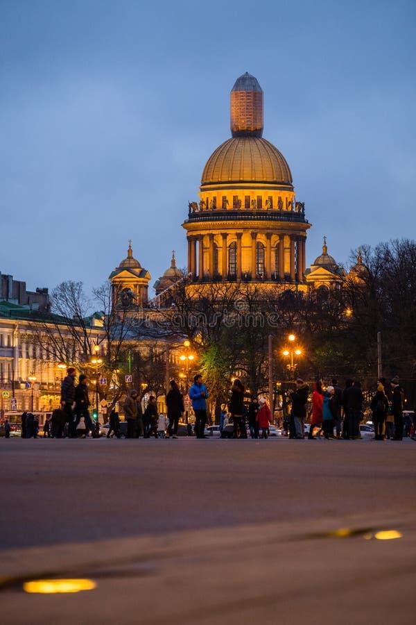 Paisaje del invierno de Sankt-Peterburg imagen de archivo libre de regalías