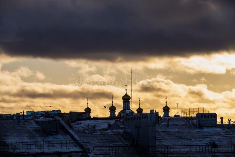 Paisaje del invierno de Sankt-Peterburg imágenes de archivo libres de regalías