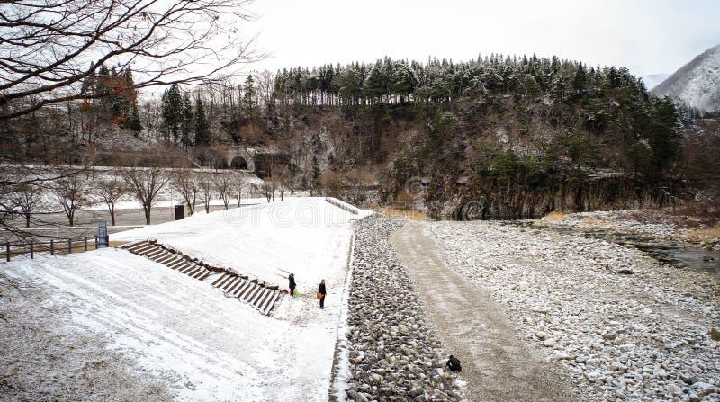 Paisaje del invierno en Japón fotografía de archivo libre de regalías