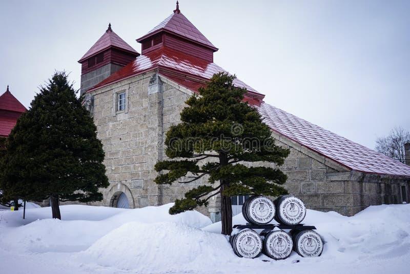 Paisaje del invierno en Yoichi, Hokkaido, Japón imagen de archivo libre de regalías