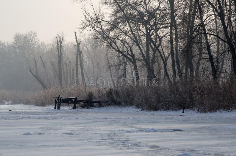 Paisaje del invierno europa foto de archivo libre de regalías