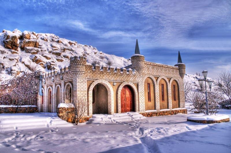 Paisaje del invierno. Imagen de HDR imagen de archivo