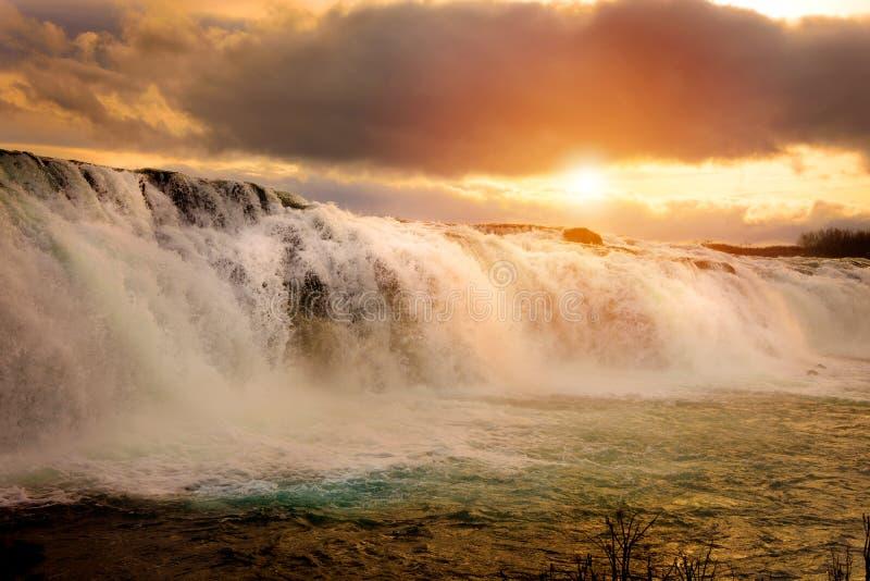 Paisaje del islandés de Faxi Waterfal fotografía de archivo libre de regalías