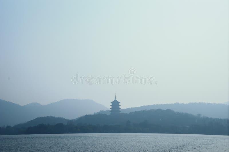 Paisaje del lago del oeste, Hangzhou foto de archivo