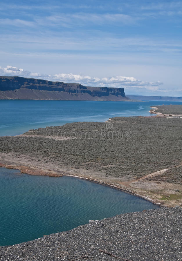 Paisaje Del Lago Desert Fotos de archivo