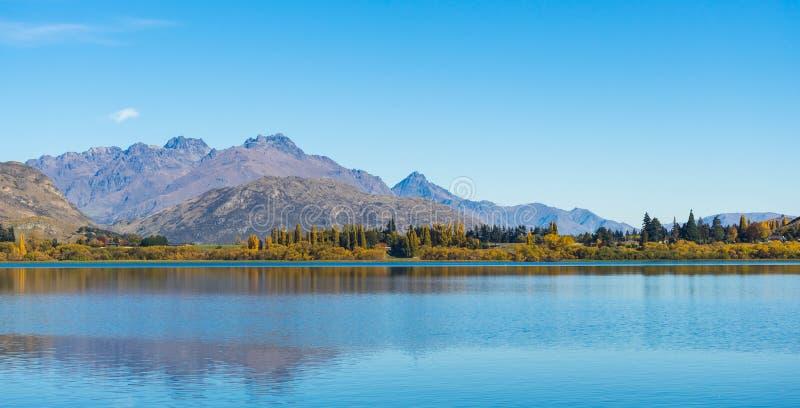 Paisaje del lago Hayes foto de archivo libre de regalías