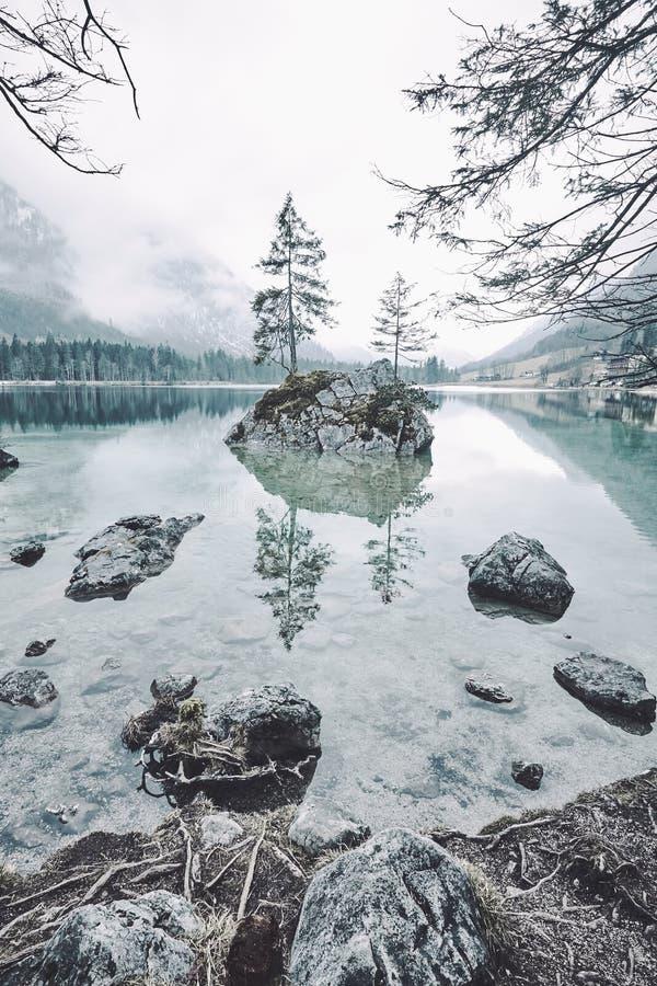Paisaje del lago Hintersee foto de archivo