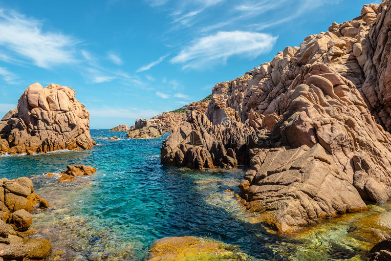 Paisaje del mar de Cerdeña del paradiso de la costa fotos de archivo libres de regalías