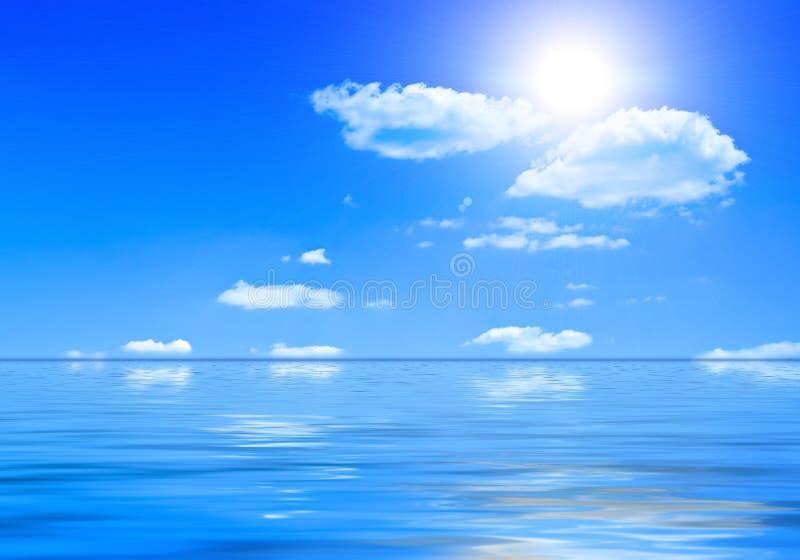 Paisaje del mar del verano imagen de archivo