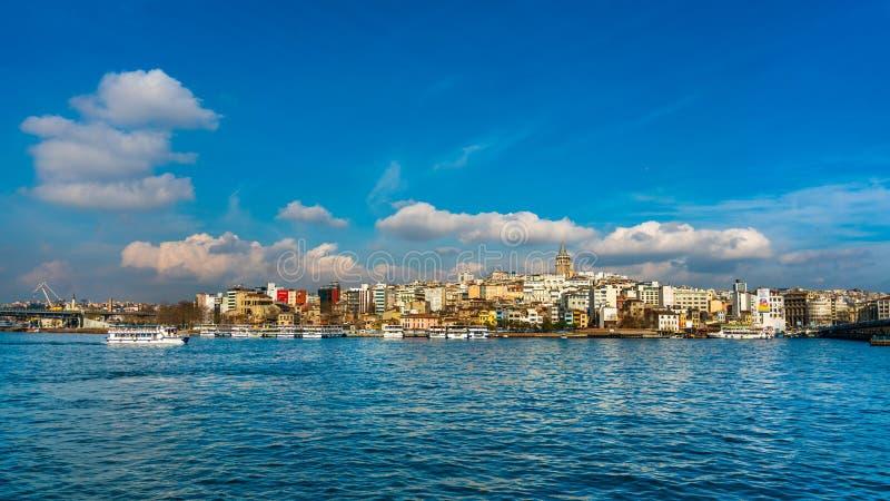 Paisaje del mar en Estambul, Turquía foto de archivo