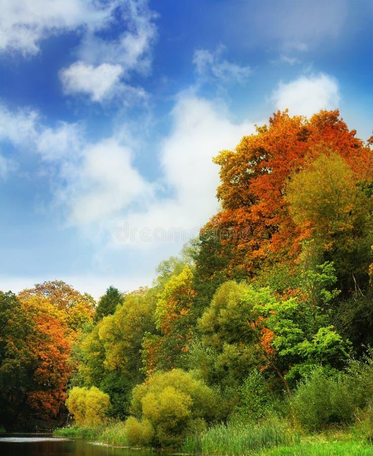 Paisaje del otoño fotos de archivo