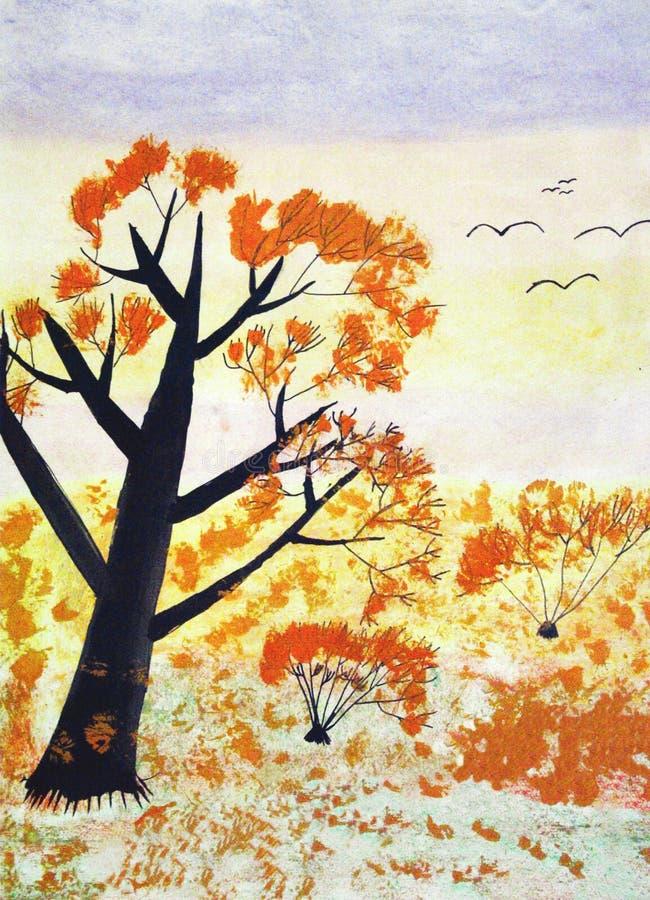 Paisaje del otoño ilustración del vector