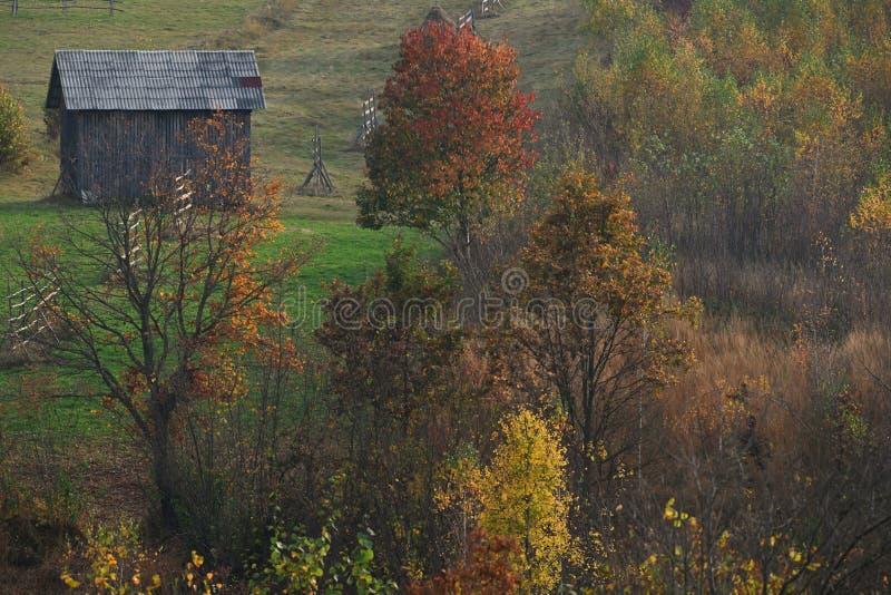 Paisaje del otoño de Maramures imagen de archivo