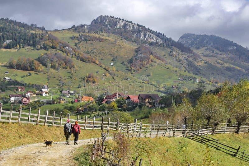 Paisaje del otoño en Rumania fotos de archivo libres de regalías