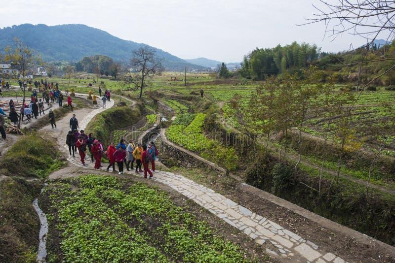 Paisaje del otoño del pueblo del hongcun, condado yixian, huangshan, Anhui fotos de archivo libres de regalías
