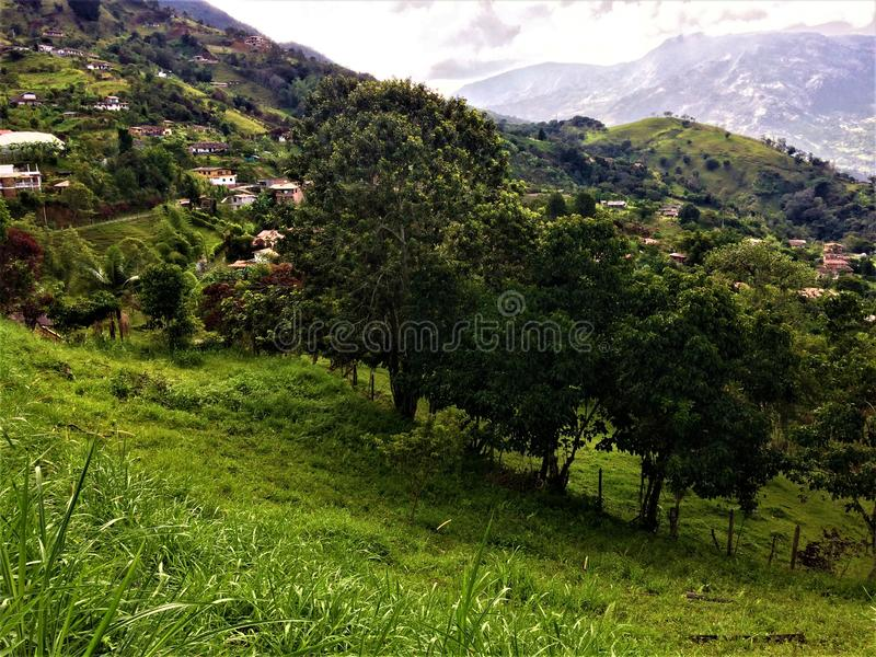 Paisaje del país en las cercanías de Medellin Colombia fotos de archivo