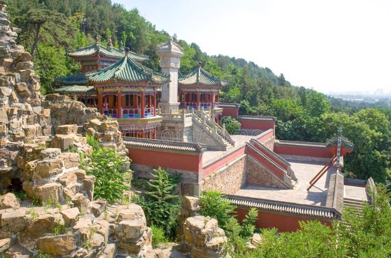 Paisaje del palacio de verano de Pekín, los jardines imperiales antiguos en China fotos de archivo libres de regalías
