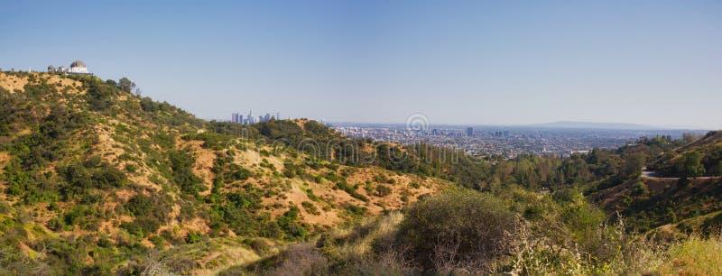 Paisaje del panorama de Los Ángeles imágenes de archivo libres de regalías