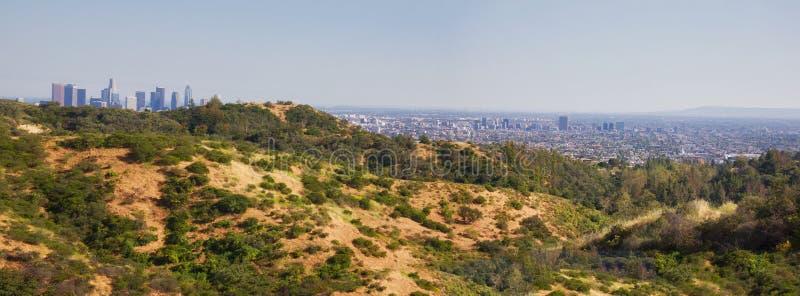 Paisaje del panorama de Los Ángeles fotografía de archivo
